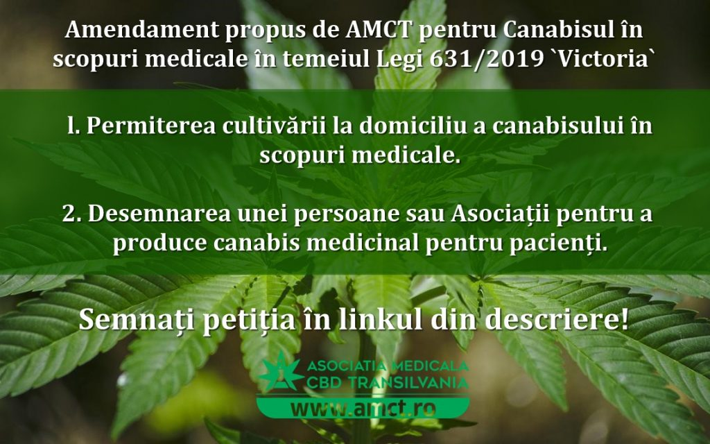 Amendament propus de AMCT pentru Canabis în scopuri medicale în temeiul Legi 631/2019 `Victoria`